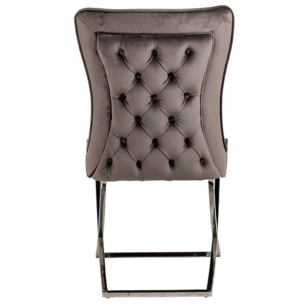 Celine Mouse Grey Fabric Dining Chair Back