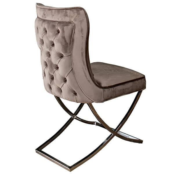 Celine Mouse Grey Fabric Dining Chair