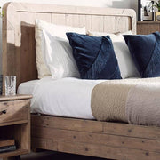 Chelwood reclaimed wood headboard with cushions