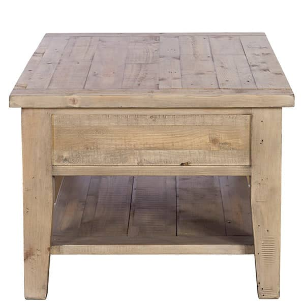 Chelwood Reclaimed Wood Coffee Table Side