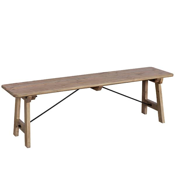 Chelwood Reclaimed Wood Dining Bench Small
