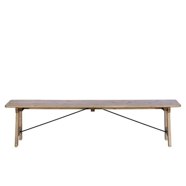 Chelwood Reclaimed Wood Dining Bench Large