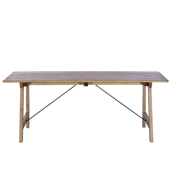 Chelwood Reclaimed Wood Dining Table Front