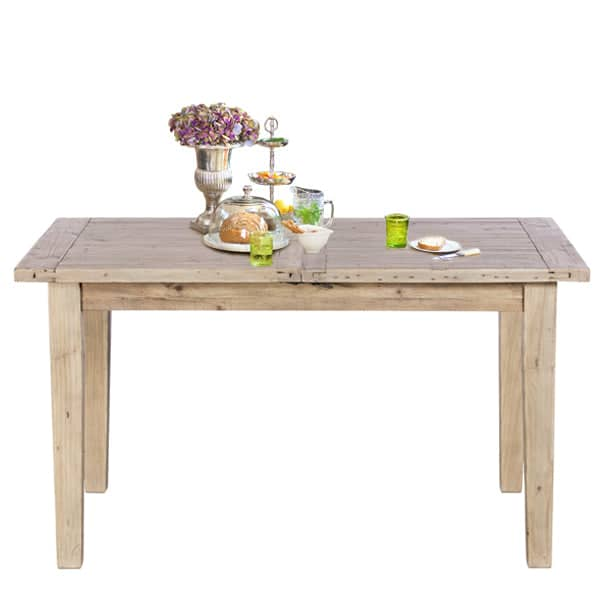 Chelwood Reclaimed Wood Extendable Dining Table Cutout Lifetsyle