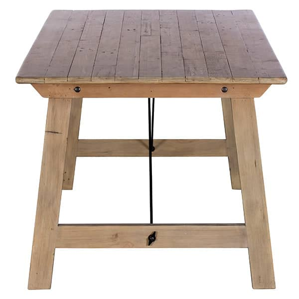 Chelwood Reclaimed Wood Dining Table Side