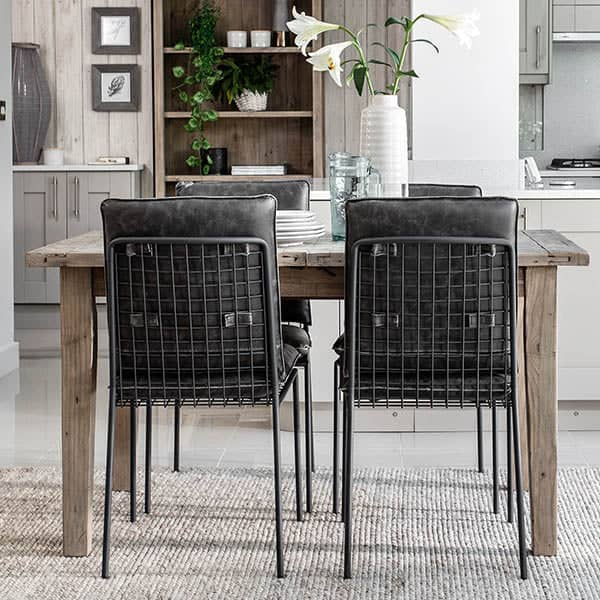 Chelwood Reclaimed Wood Extendable Dining Table and Chairs