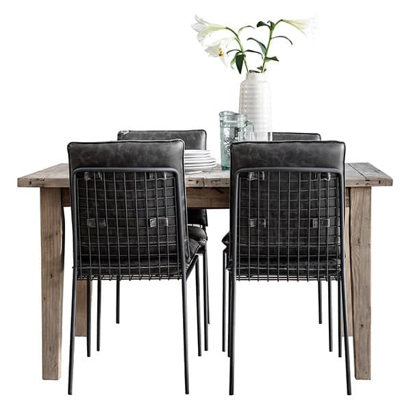 Chelwood Reclaimed Wood Extendable Dining Table Cutout