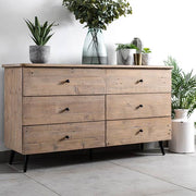Chelwood Reclaimed Wood Large Chest of Drawers in home