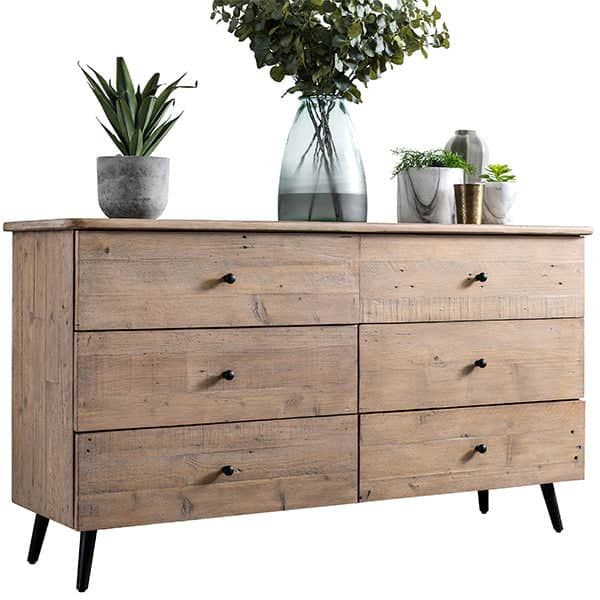 Large chest of drawers made from reclaimed wood