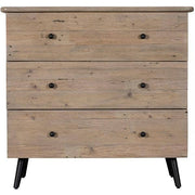 Medium sized wooden chest of drawers made from reclaimed wood