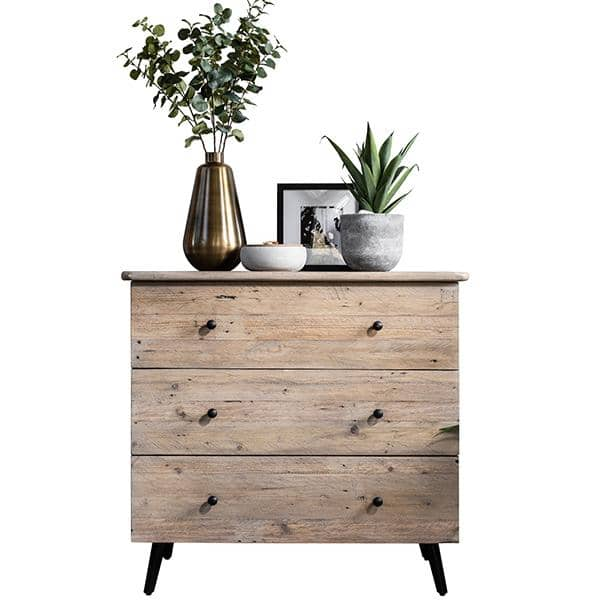 Reclaimed chest of drawers with plants on top
