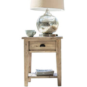 Chelwood Reclaimed Wood Side Table Cutout Lifestyle