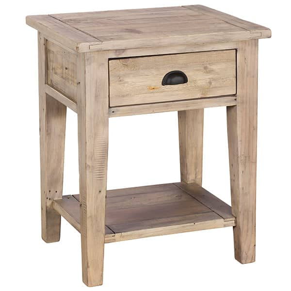 Chelwood Reclaimed Wood Side Table Cutout