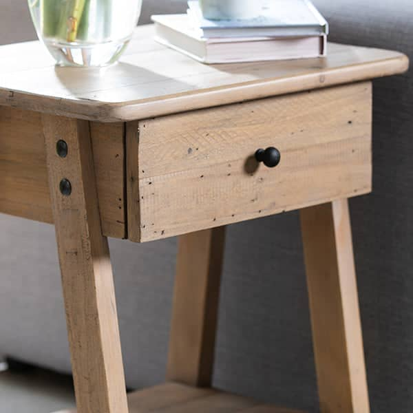 Rustic Side table drawer made from reclaimed wood