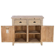Chelwood Medium Reclaimed Wood Sideboard Open