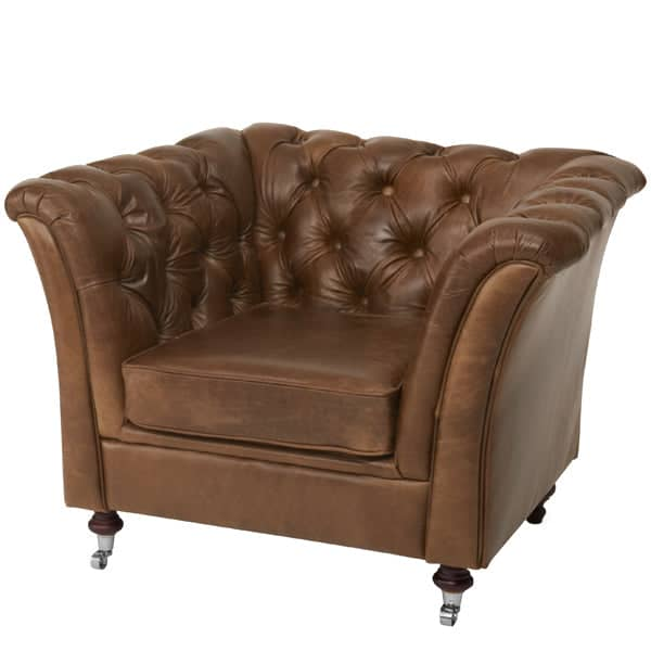 Granby Brown Cerato Leather Armchair