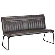 Cleo Faux Leather Industrial Dining Bench