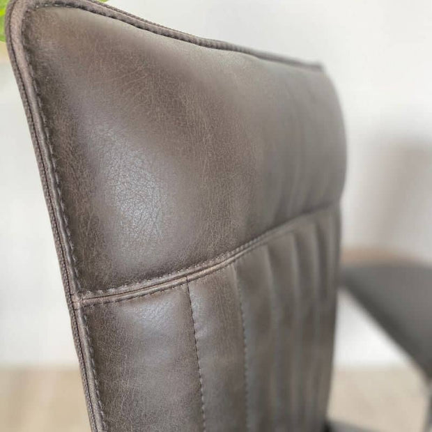 Close up of Cleo Faux Leather Dining Chair