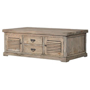 Colette Reclaimed Wood Louvred Coffee Table - Modish Living