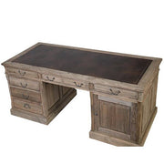 Colette Reclaimed Wood Writing Desk top - Modish Living