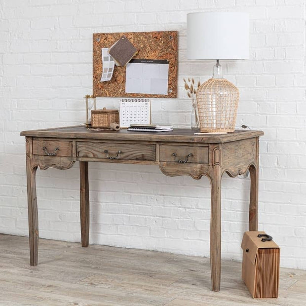Colette Reclaimed Wood Small Writing Desk