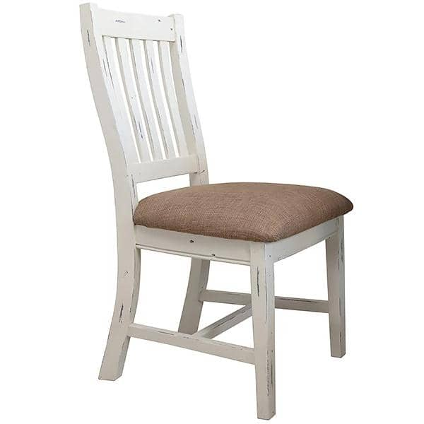 Dorset Reclaimed Wood Dining Chair with white painted legs