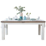 Dorset Reclaimed Wood Extending Dining Table with white painted legs