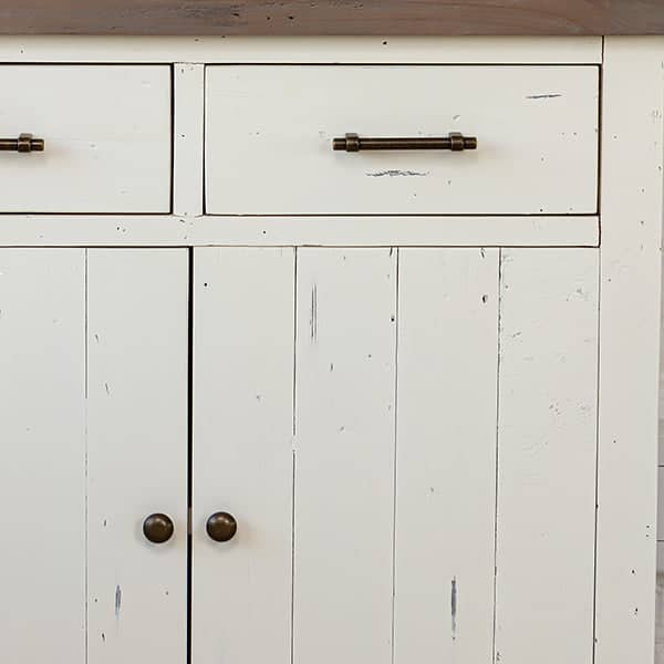 Detail of Dorset Reclaimed Wood medium Sideboard