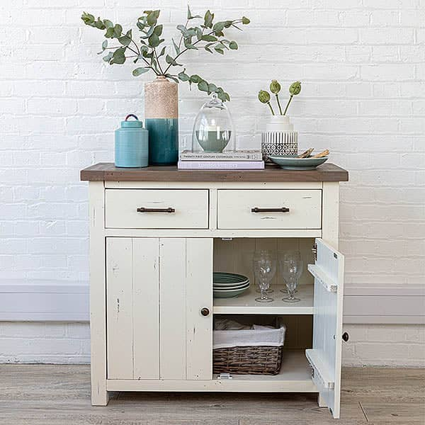 Medium Dorset Reclaimed Wood Sideboard with open door