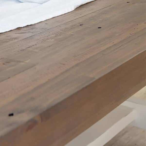 Detail of Dorset Reclaimed Wood Dining Bench