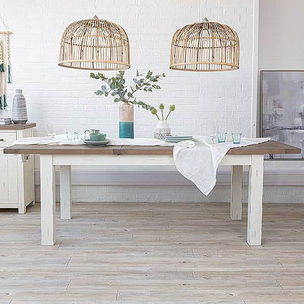 Dorset Reclaimed Wood Extended Dining Table