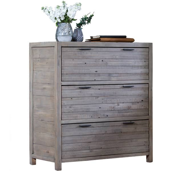 Dulwich Small Reclaimed Wood Chest of Drawers Cutout
