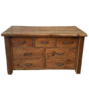 Large Moss Reclaimed Wood Chest Of Drawers cut out