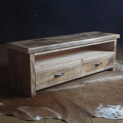 Beam Natural Reclaimed Wood TV Unit with 2 Drawers