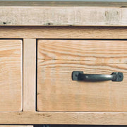English Beam 2 Door Reclaimed Wood Sideboard Close up