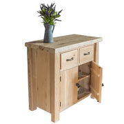 English Beam 2 Door Reclaimed Wood Sideboard Open