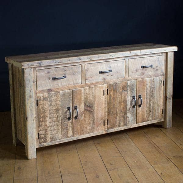 Beam Large Reclaimed Wood Sideboard with 4 Doors