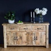 Beam Large Reclaimed Wood Sideboard with 3 Drawers