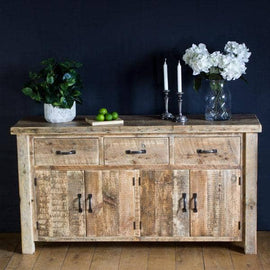 English Beam Large Reclaimed Wood Sideboard in room