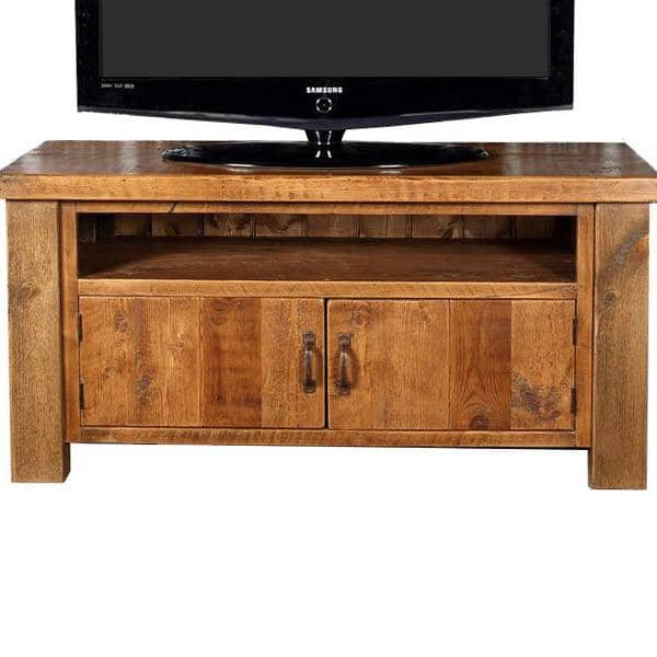 Beam 2 Door Reclaimed Wood TV Cabinet Closed