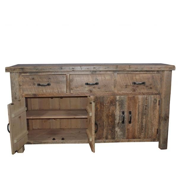 Beam Large Reclaimed Wood Sideboard with 2 Open Doors