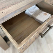 Solid wooden drawers on Farringdon Reclaimed Wood Coffee Table