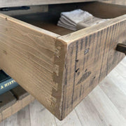 Dovetail drawers on Farringdon Reclaimed Wood Coffee Table