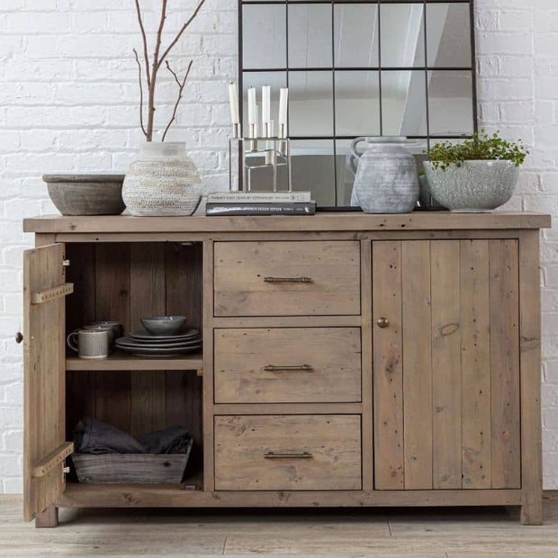 Open Door on Large Farringdon Reclaimed Wood Sideboard