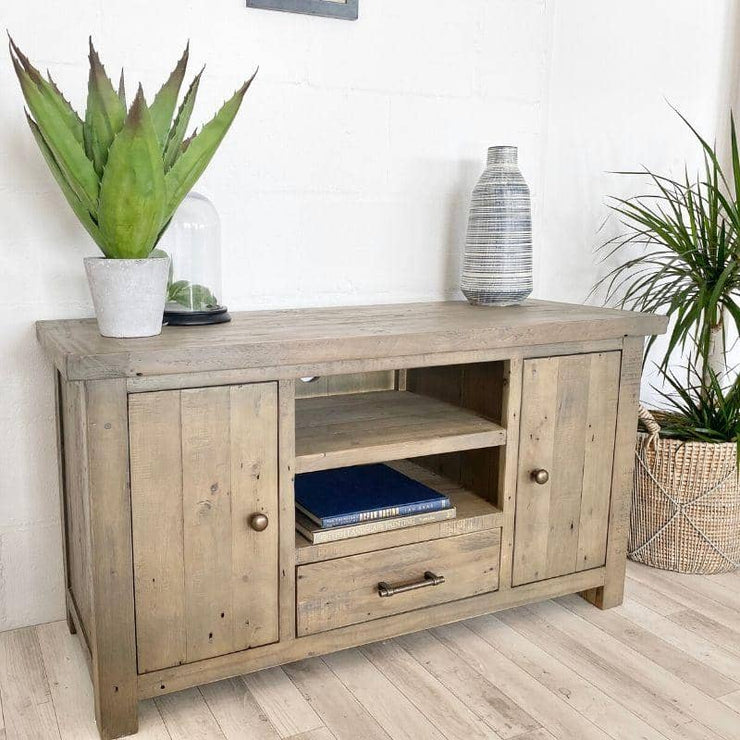 Farringdon Reclaimed Wood TV Unit made from recycled wood