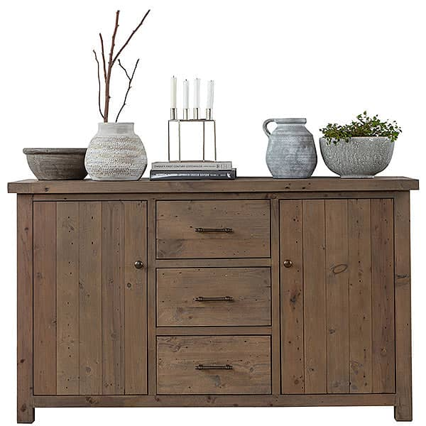Cut-out photograph of Farringdon large reclaimed wood sideboard on white background