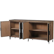 Glasgow Reclaimed Elm Large Sideboard with Stainless Steel Legs