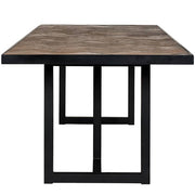 Herringbone Reclaimed Wood Dining Table Side View