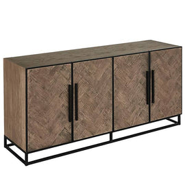 Herringbone Reclaimed Wood Sideboard