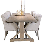 Hoxton Rustic Oak Trestle Dining Table and Chairs